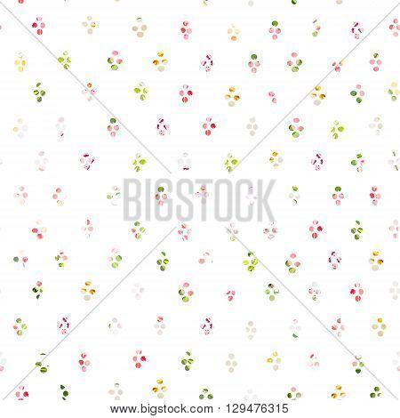 Rainbow round blob confetti seamless vector print