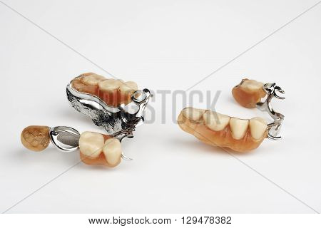 a dental implants on the white background