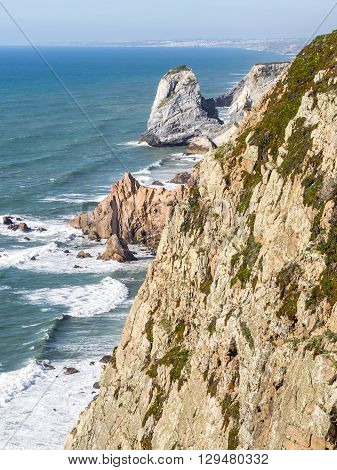 Views of the nature in Cabo da Roca Portugal
