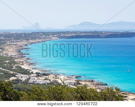 The Coast and the colors of Formentera island, Spain