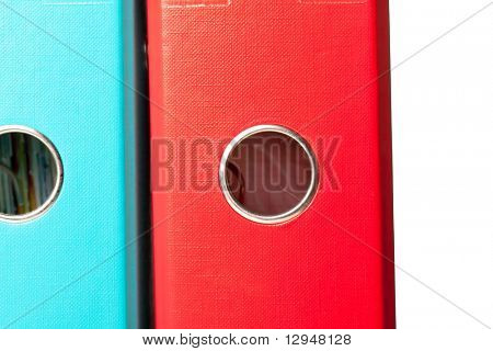 Colorful ring binders