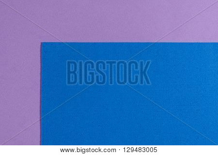 Eva foam ethylene vinyl acetate sponge plush blue surface on light purple smooth background