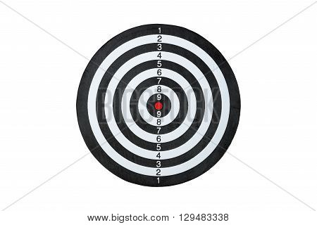 dart board isolated on a white background