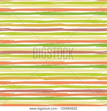 Horizontal Seamless striped pattern. Hand painted background  ink brush stroke. Earth and nature color stripes. Can be used for prints, wallpaper, baby shower invitation, birthday card, scrapbooking