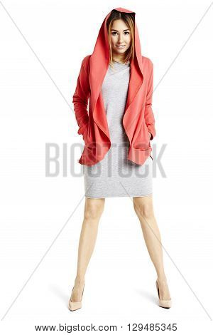 Confident Woman Stand Astride