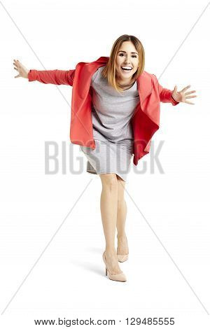 Smiling Woman Leans Into The Camera