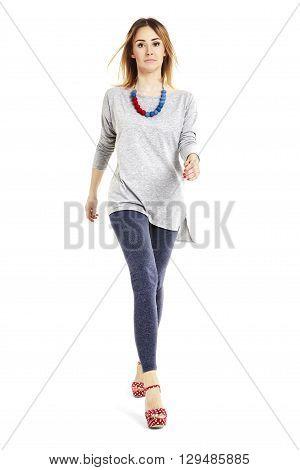 Woman Walking Forward