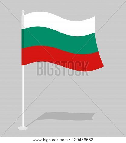 Bulgaria Flag. Official National Symbol Of Bulgarian Republic. Traditional Bulgarian Paced Flag. In