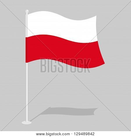 Poland Flag. Official National Symbol Of Polish Republic. Traditional Polish Paced Flag. Country In