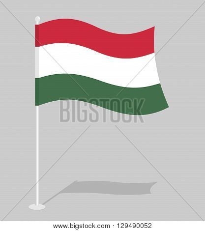 Hungary Flag. Official National Symbol Of Hungarian State. Traditional Hungarian Developing State Fl