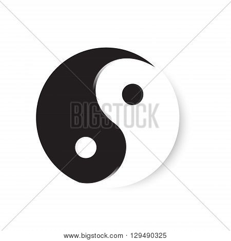 Vector illustration ying yang symbol of harmony and balance. Ying yang icon