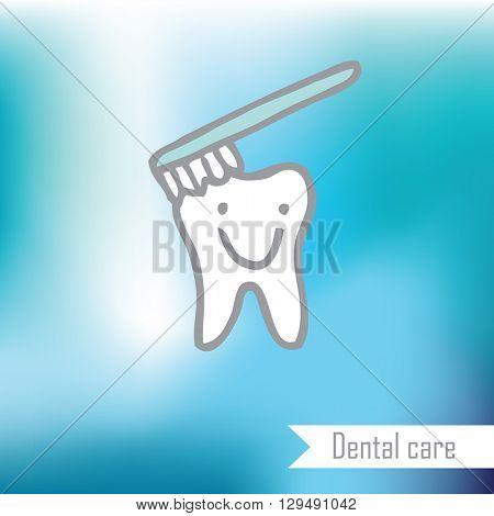 Tooth - design element, doodle