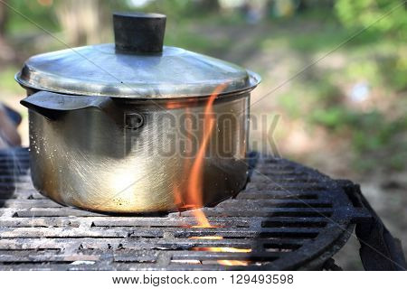 Boiling Water For Making Tea