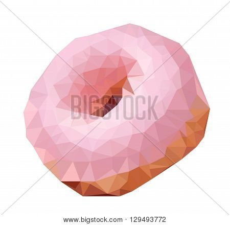 Vector triangulated donut In EPS 8 format