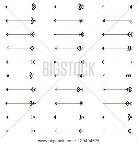 ethnic set of 30 arrows, arrow, arrow vector, arrow art, arrow image, arrow illustration, arrow design, drawing arrow, ethnic arrow, monochrome arrow, black arrow, black and white arrow