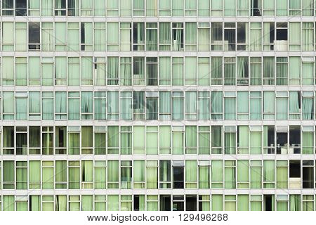 Brasilia, Brazil - November 20, 2015: Facade of Brazilian National Congress building in Brasilia, capital of Brazil. Modern urban architecture background.