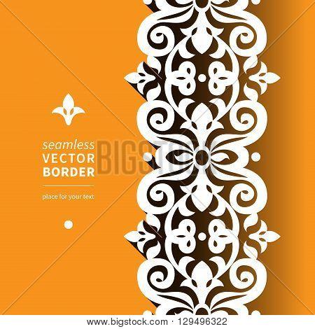 Vector Victorian Ornamental Border In Flat Design Style.