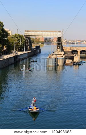 Esna Ship Locks In Egypt