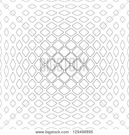 Monochrome abstract rounded square pattern design background