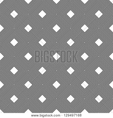 Seamless black and white diagonal line square pattern