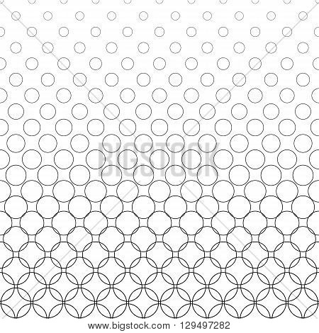 Seamless black and white vector circle pattern background