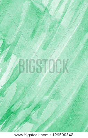 Abstract green watercolor on paper texture can use as background