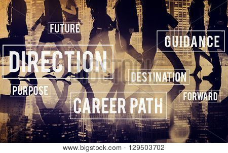 Direction Directional Goal Way Motivation Progress Concept