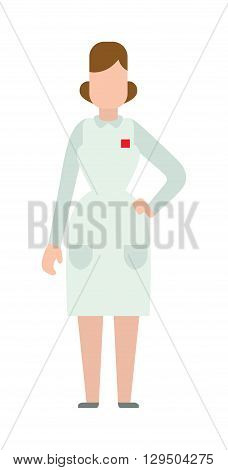 Woman doctor people young female girl doctor silhouette. Doctor woman silhouette stay. Doctor girl silhouette. Flat doctor woman abstartc silhouette. Woman medic staff, girl doctor isolated