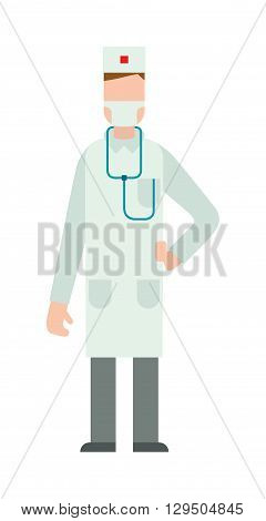 Doctor silhouette vector illustration. Doctor silhouette with medical stethoscope and doctor silhouette health specialist. Doctor silhouette professional hospital people. Man surgeon practitioner coat