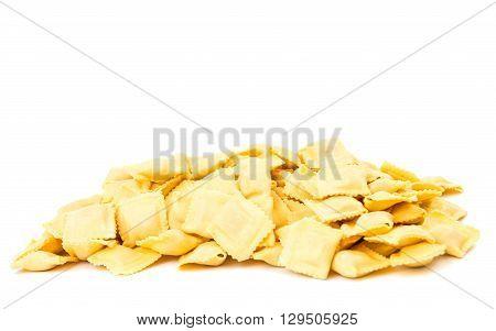 ravioli isolated on white background, ravioli, raw,