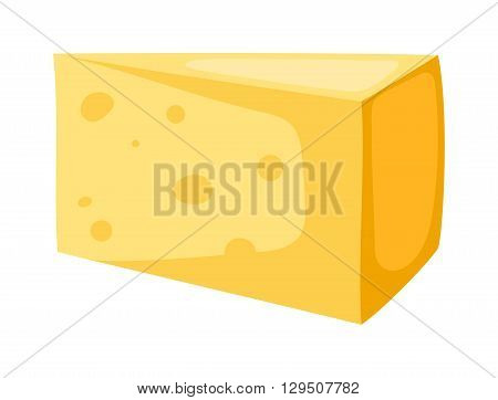 Thin slice of swiss cheese. Cheese slice food and cheese slice healthy food ingredient. Cheese slice gourmet product and milk fresh cheese slice. Breakfast piece delicious ingredient yellow cheese.