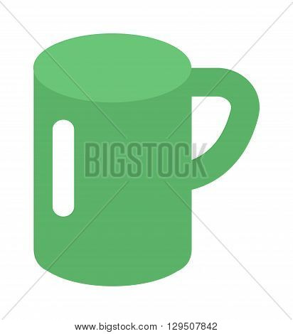 Green cup isolated on white. Green cup vector and green coffee cup. Green cup hot breakfast espresso and morning kitchen ceramic green cup. Green cup object caffeine food cappuccino liquid.