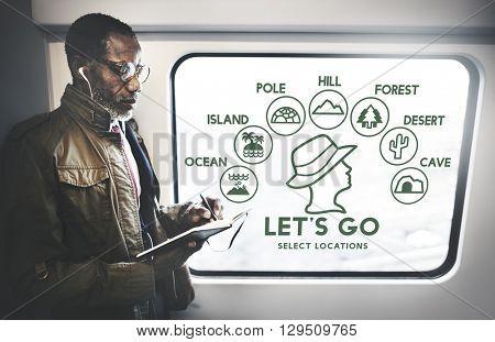 Let's Go Adventure Travel Journey Experience Concept