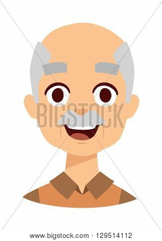 Happy year old senior man standing isolated on white background. Happy grandpa senior old man person and happy grandpa older mature happiness smiling man. Happy grandpa retired elderly face.