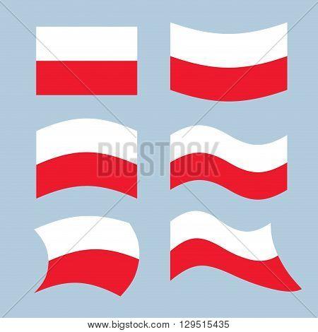 Poland Font. Polish Flag On Letters. National Patriotic Alphabet. 3D Letter. State Color Symbolism E