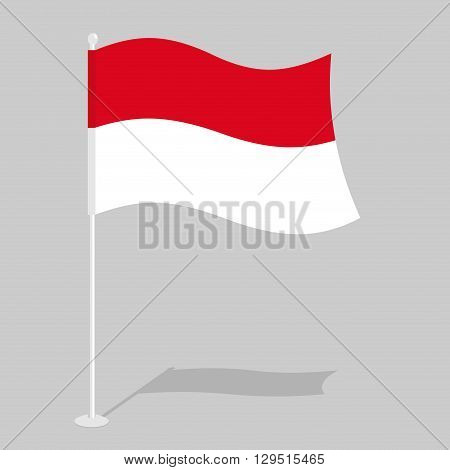 Indonesia Flag. Official National Symbol Of Republic Of Indonesia. Traditional Indonesian Flag Emerg