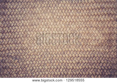Handmade Bamboo Weave Texture For Background