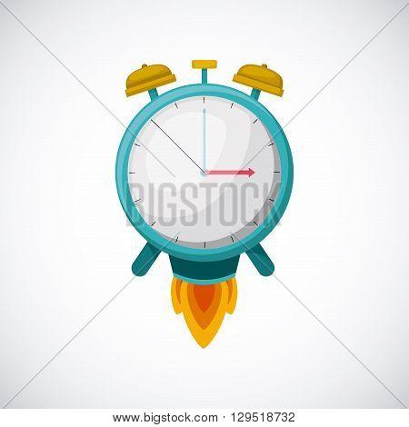 alarm clock design, vector illustration eps10 graphic