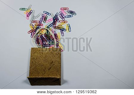 Colorful Paperclips Isolated On A White Background