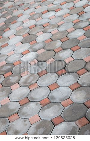 Grey Stone Path Of Walkway