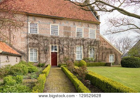 NETHERLANDS - BRONCKHORST - CIRCA APRIL 2016: Historic mansion in the smallest town of The Netherlands.