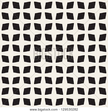 Quadrangle abstract seamless pattern. Fashion graphics background design. Modern stylish texture for prints textiles apparel. Monochrome template for wrapping wallpaper website blog etc. VECTOR