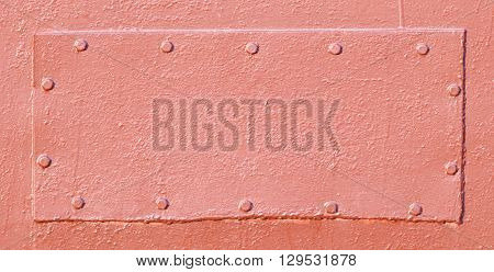 Metal patch, abstract industrial background or texture