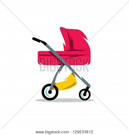 Transport for Newborns Isolated on a White Background