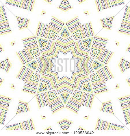 Colorful abstract pattern on white background for design