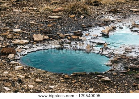 Geothermal Water Hole In Iceland