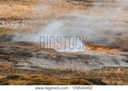 Geothermal Nature In Iceland