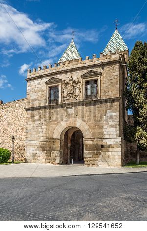 Gate of Alfonso VI in Toledo - Spain