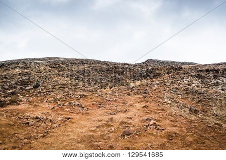 Rough Landscape With Many Rocks