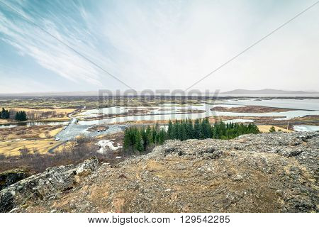 Iceland Scenery At The Thingvellir National Park